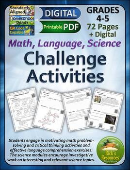 Enrichment and Challenge Activities for Math, Language, Science