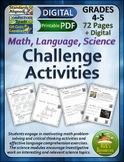 Science, Language, Math Challenge Activities
