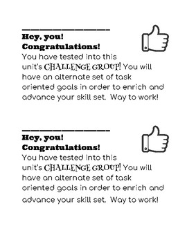 Challenge Group Note Home