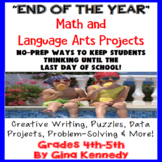 """End of the Year"" Math and Language Arts Projects"