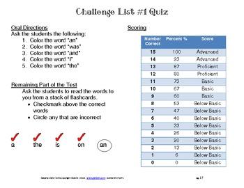 Challenge List #1 Activities