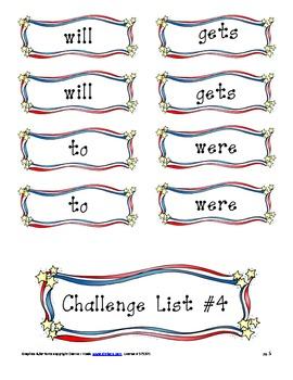 Challenge List #4 Activities