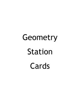 5th, 6th and 7th Grade Common Core Challenge Math Geometry Stations