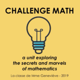 Challenge Math - a gifted education math program for elementary school