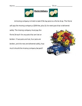 Challenge Problem: Florist Delivery