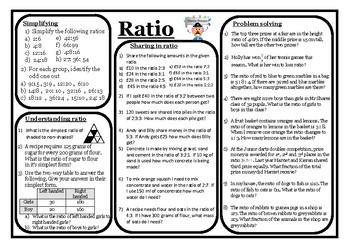 Challenging Ratio worksheet