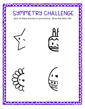 Challenge Sheets:  Mirror Symmetry-  4 pages!