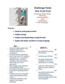 Challenge Task #3 - Jet Snail