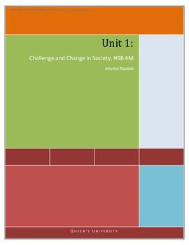 Challenge and Change in Society Course - HSB 4M Social Challenges Strand