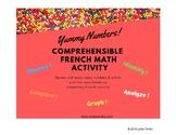 French Challenge des Bonbons  - number & color + bar graph