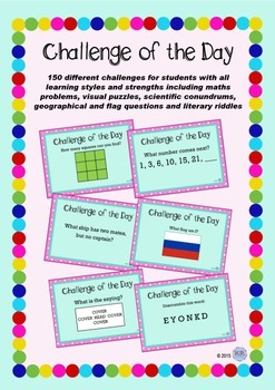 Challenge of The Day Package - puzzles and riddles to get young brains focused