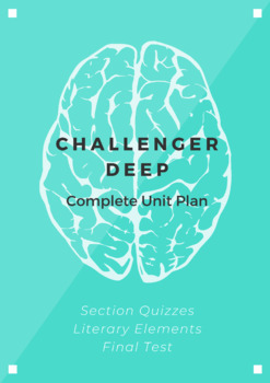 Challenger Deep COMPLETE UNIT PLAN (Reading Quizzes, Analysis Assignments, Test)