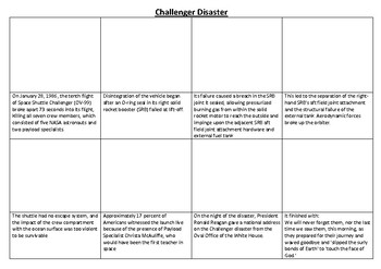 Challenger Disaster Comic Strip and Storyboard