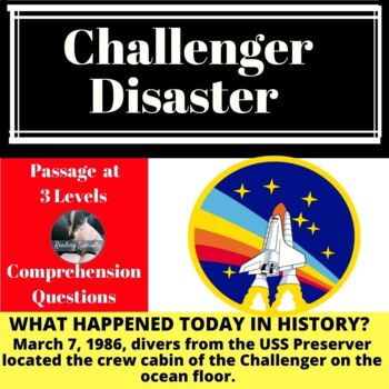Challenger Disaster Differentiated Reading Passage March 7