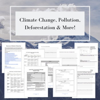 Challenges Facing Our Environment: Research Project