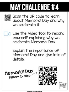 Challenges for the Month of May   For Use with Seesaw