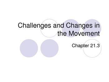 Challenges in the Civil Rights Movement