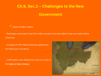 Challenges to the New Government - Fallen Timbers & Whiskey Rebellion
