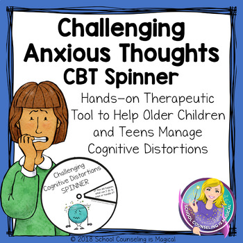 Challenging Anxious Thoughts CBT Spinner