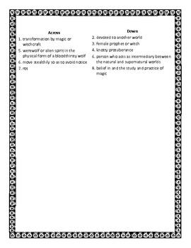 Challenging Halloween Crossword Puzzle for High School Students