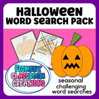 Challenging Halloween Word Searches with answer keys