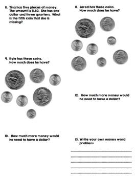 Challenging Money Worksheet