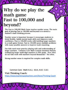 Challenging Number Sense Math Games: Numbers from 100,000 to 5 Million