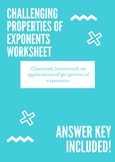 Rules of Exponents Worksheet