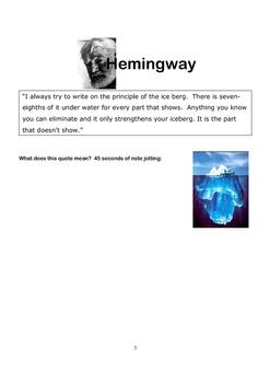 Challenging Short Story Unit Using Heminway Micro-Fiction