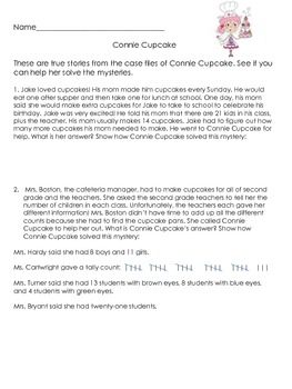 Challenging Story Problems - Connie Cupcake