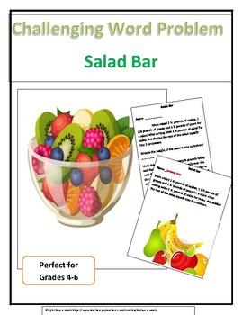 Challenging Word Problem - Salad Bar