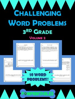 Challenging Word Problems - 3rd Grade - Multi-Step - Volume 2