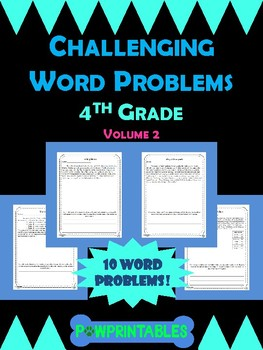 Challenging Word Problems - 4th Grade - Multi-Step - Volume 2