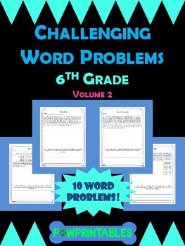 Challenging Word Problems - 6th Grade - Multi-Step - Volume 2