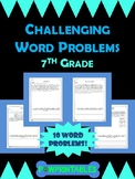 Challenging Word Problems - 7th Grade - Multi-Step - Commo