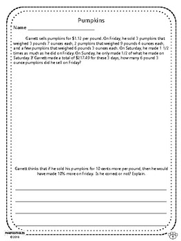 Challenging Word Problems - 8th & 9th Grades - Multi-Step - Common Core Aligned