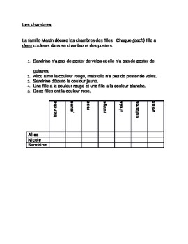Chambres French Logic problem