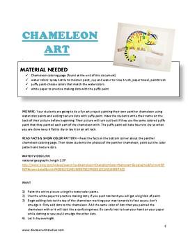 Art Lesson Plan: Textured Chameleon