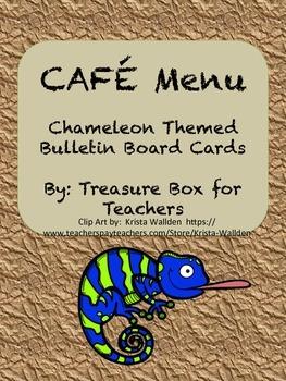 Chameleon CAFE Menu Cards