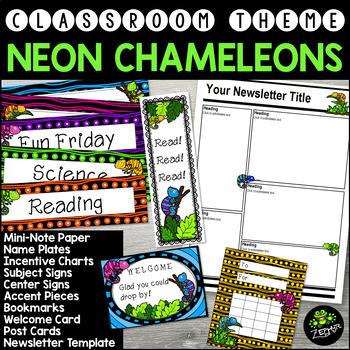 Chameleons {Classroom Theme}