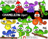 Chameleon ClipArt - Colored Chameleon ClipArt - Lizard ClipArt