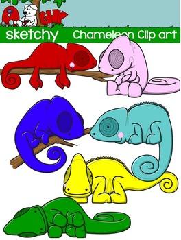 Chameleon Clipart / Graphics