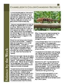 Chameleon Color:  Informational Text