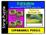 Chameleon - Lizard Editable Strip Puzzle with Multiple Options