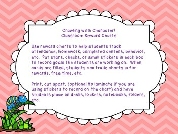 Chameleon Themed Classroom Reward Charts