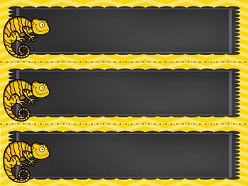 Chameleon Themed Desk Tags - Name Labels