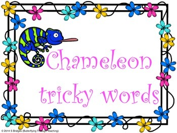 Chameleon Tricky Words (Letters and Sounds)