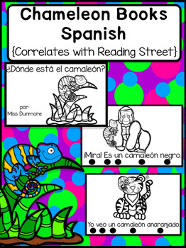 Chameleon book in Spanish/ libro de camaleon (More challenging)
