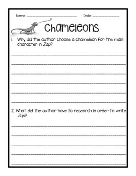 Chameleon Paired Text FOUR Day Mini Lessons. Fig Language & Main Idea!