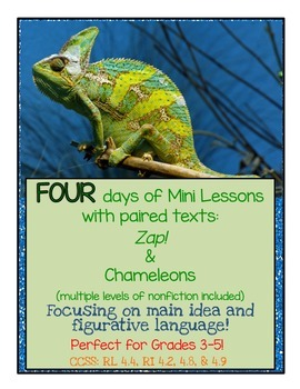 Chameleon Paired Text FOUR Day Mini Lessons. Fig Language